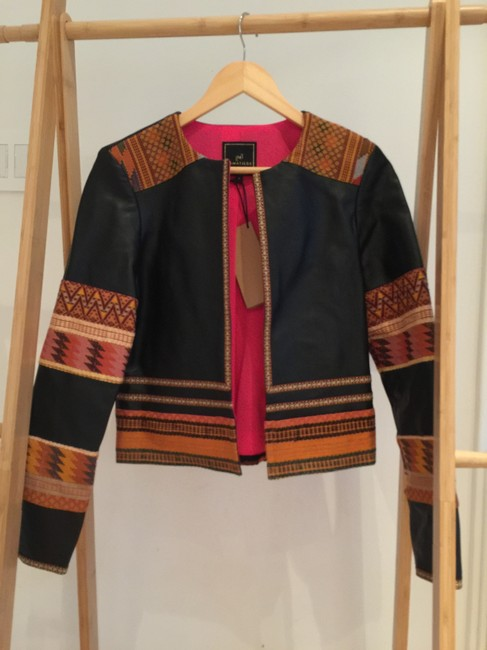 La Matilde Embroidery Mexican Leather Jacket Image 1