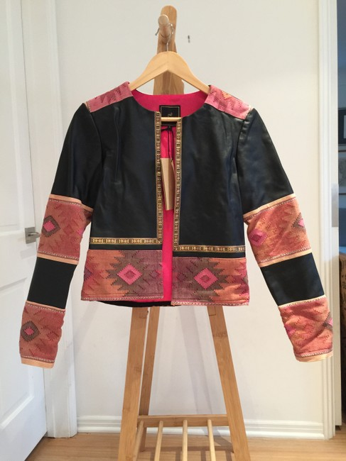 La Matilde Embroidery Mexican Leather Jacket Image 4