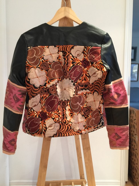 La Matilde Embroidery Mexican Leather Jacket Image 6