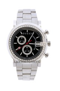 Gucci GUCCI CHRONO STAINLESS STEEL WITH FACTORY ORIGINAL DIAMOND BEZEL