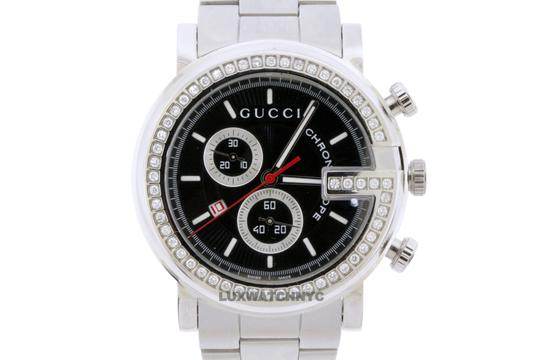 Gucci GUCCI CHRONO STAINLESS STEEL WITH FACTORY ORIGINAL DIAMOND BEZEL Image 1