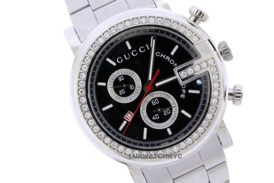 Gucci GUCCI CHRONO STAINLESS STEEL WITH FACTORY ORIGINAL DIAMOND BEZEL Image 2