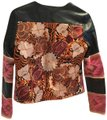 La Matilde Mexican Embroidery Leather Jacket