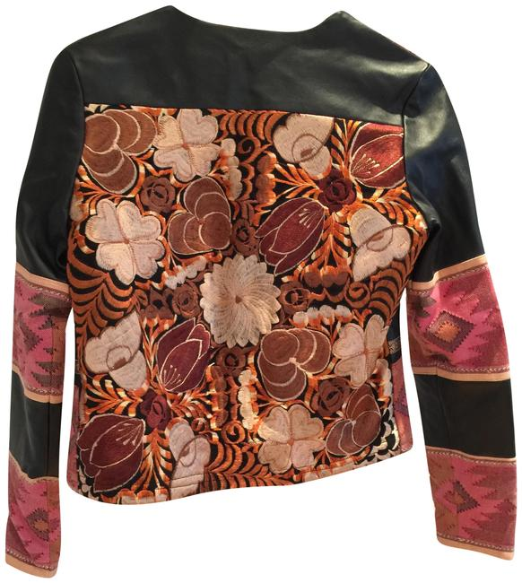 La Matilde Mexican Embroidery Leather Jacket Image 0