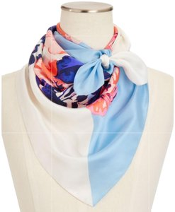 Talbots Talbots painted floral silk scarf
