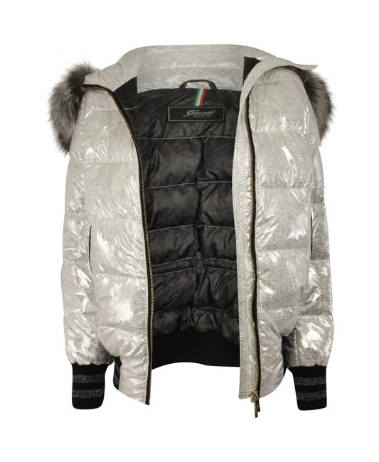 Item - Silver Quilted Puffer Coat Size 2 (XS)