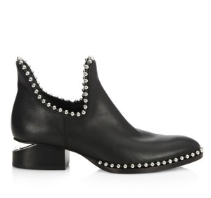 Alexander Wang Kori Studded Cut-out Ankle Black Boots
