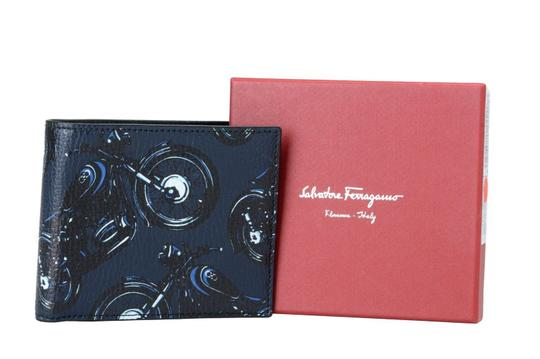 Salvatore Ferragamo Salvatore Ferragamo 100% Leather Printed Men's Bifold Wallet Image 1