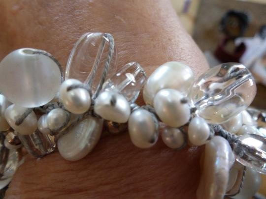 Silpada Silpada Pearl and Crystal Necklace, hand knotted Image 1