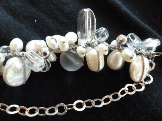 Silpada Silpada Pearl and Crystal Necklace, hand knotted Image 2