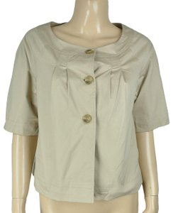 Old Navy Ruched Swing Beige Jacket