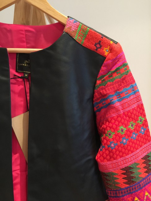 La Matilde Embroidered Floral Mexican Leather Jacket Image 6