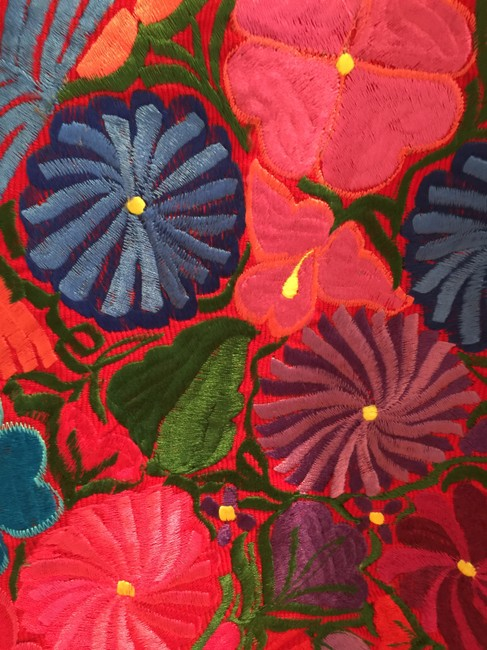 La Matilde Embroidered Floral Mexican Leather Jacket Image 8
