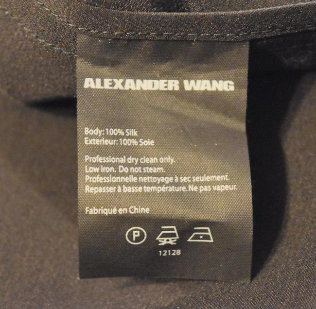 Alexander Wang Silk Casual Top Black Image 6