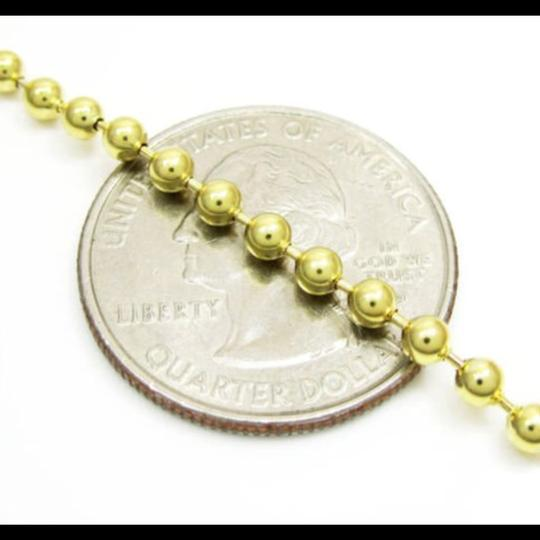 Impressed Jewelry 30'' 2.8mm 20.00 Grams 10k Yellow Gold Bead Ball Army Chain Necklace Image 1