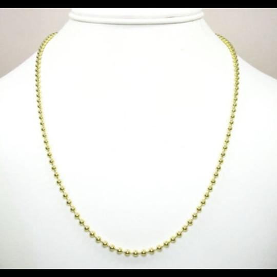 Impressed Jewelry 30'' 2.8mm 20.00 Grams 10k Yellow Gold Bead Ball Army Chain Necklace Image 3