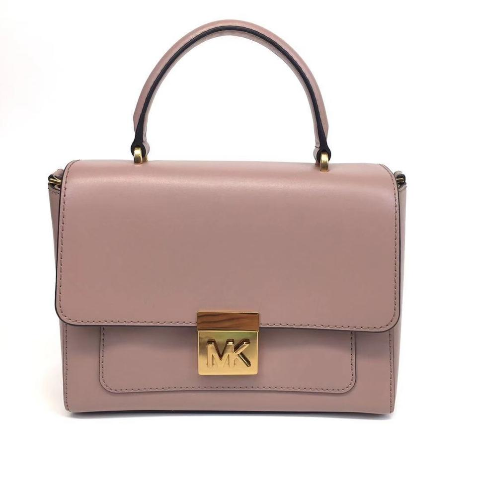 082f3b697eb3 Michael Kors Medium Convertible Top Handle Mindy Fawn Leather ...