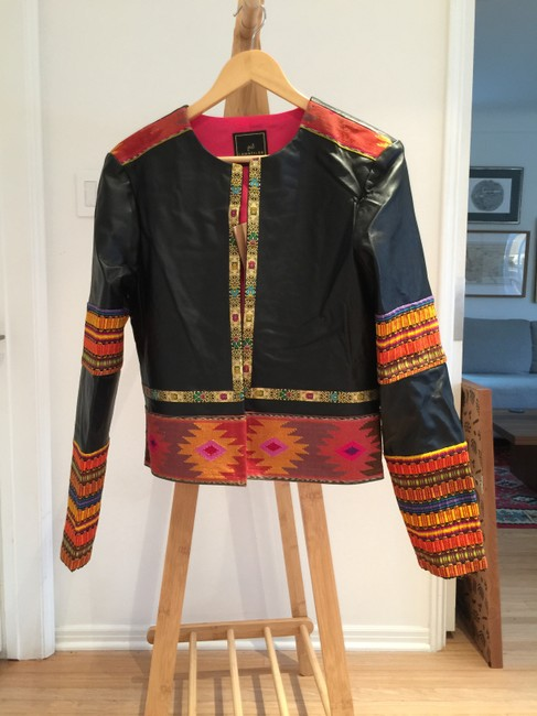 La Matilde Embroidered Floral Mexican Leather Jacket Image 1
