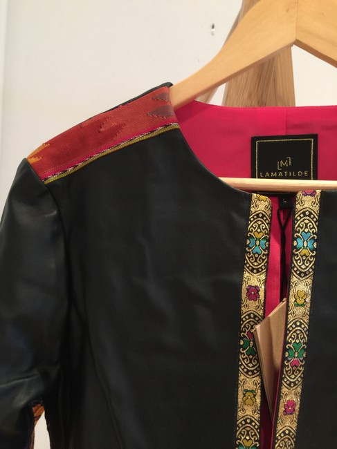 La Matilde Embroidered Floral Mexican Leather Jacket Image 2