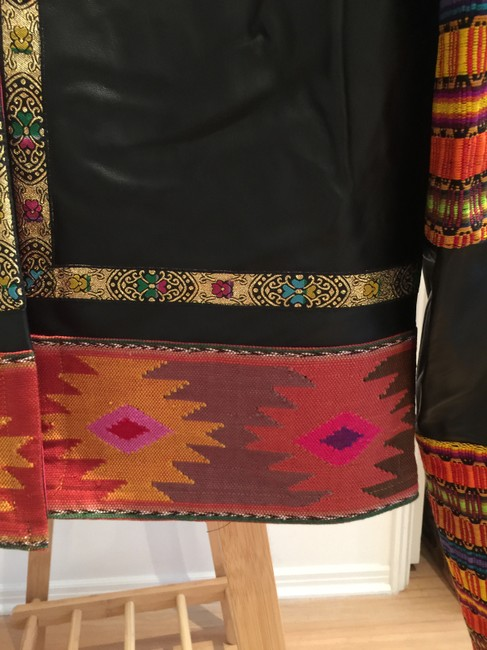 La Matilde Embroidered Floral Mexican Leather Jacket Image 4