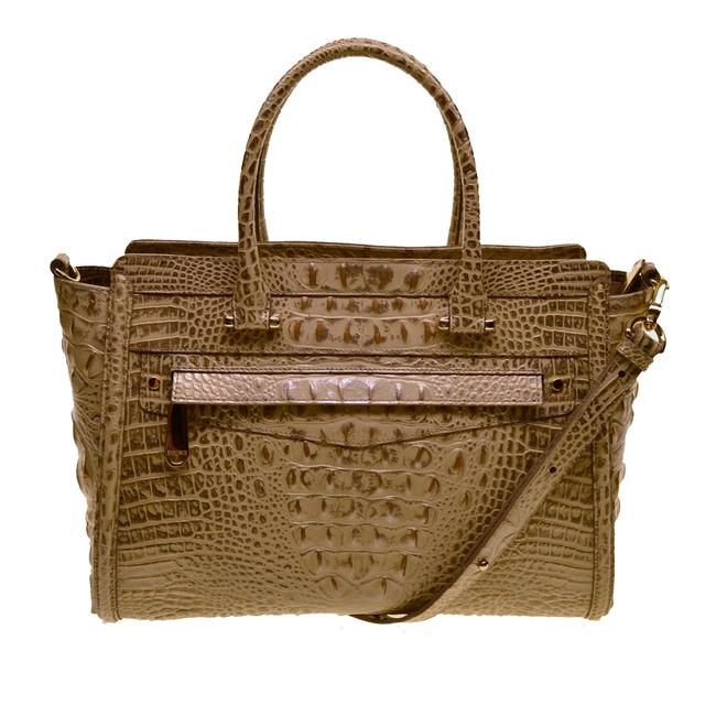 Item - Harper Croco Emb Silver Birch Leather Satchel