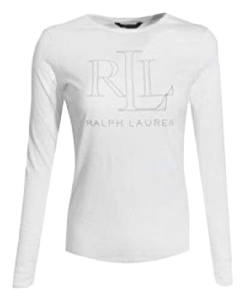 search for original big selection of 2019 popular design Polo Ralph Lauren White Women's Long Sleeve M Tee Shirt Size 8 (M) 28% off  retail