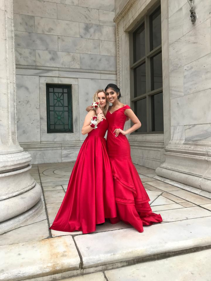1ee0f55e804c3 David s Bridal Red Prom 2018 Long Formal Dress Size 0 (XS) - Tradesy