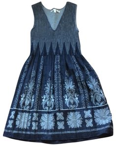 Max Studio short dress navy and grey on Tradesy