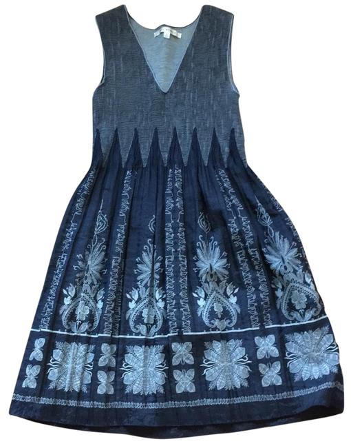 Preload https://img-static.tradesy.com/item/24979815/max-studio-navy-and-grey-embroidered-fit-flare-mid-length-short-casual-dress-size-12-l-0-1-650-650.jpg
