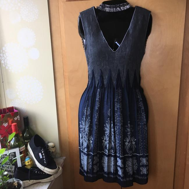 Max Studio short dress navy and grey on Tradesy Image 1