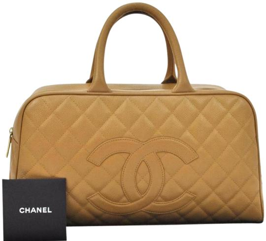 fea590b3138d Chanel Boston In Quilted Caviar Beige Leather Weekend/Travel Bag ...