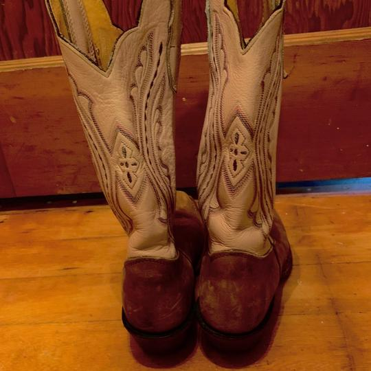 Justin Cowboy Boots pink&brown Boots Image 1