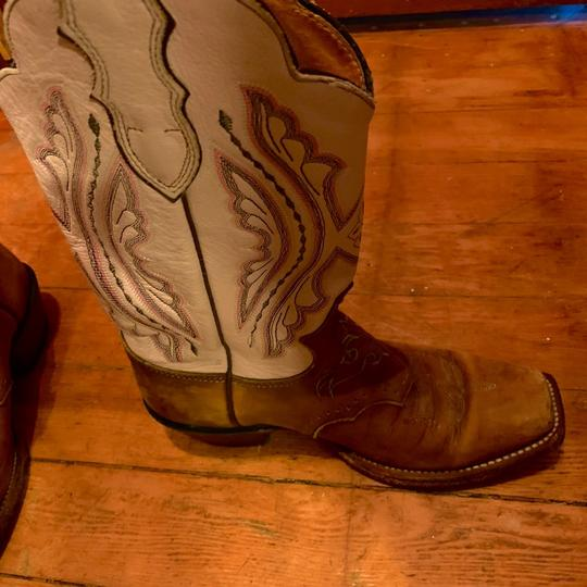 Justin Cowboy Boots pink&brown Boots Image 2