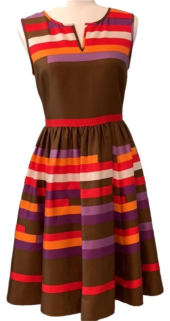 Preload https://img-static.tradesy.com/item/24979970/kate-spade-cocoa-with-purple-red-orange-stripes-mid-length-workoffice-dress-size-4-s-0-1-650-650.jpg
