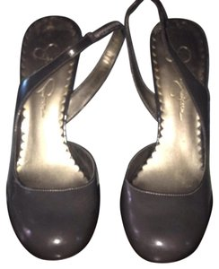 Jessica Simpson Gray Patent Leather Pumps