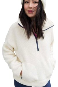 J.Crew Polartec Winter Fluffy Bright Ivory Jacket