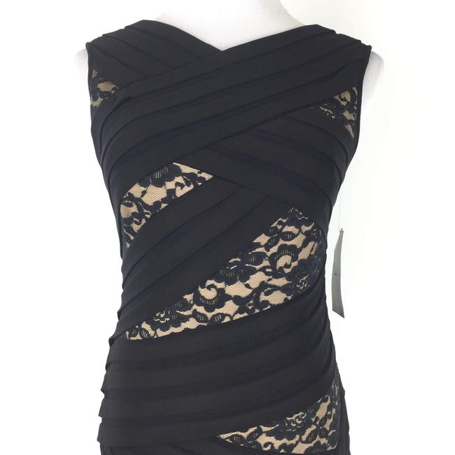 Adrianna Papell short dress Black Sheathdress Lace Tiered on Tradesy Image 1