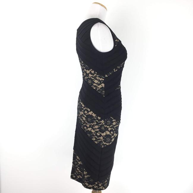 Adrianna Papell short dress Black Sheathdress Lace Tiered on Tradesy Image 3