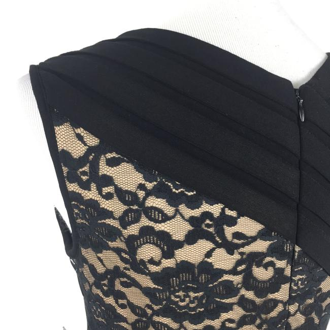 Adrianna Papell short dress Black Sheathdress Lace Tiered on Tradesy Image 5