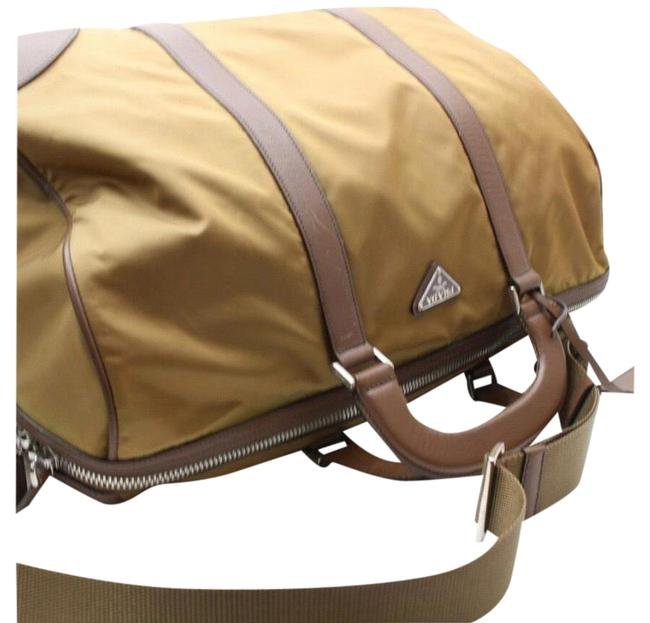 Item - Boston Duffle Large with Strap 869087 Brown Nylon Weekend/Travel Bag