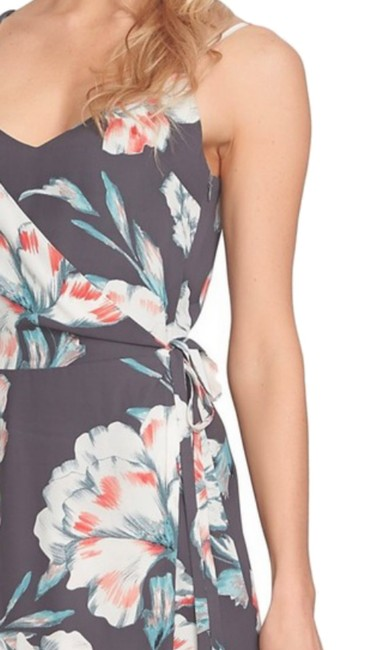 Multi Maxi Dress by 1.STATE Lush Floral Print Side Tie Closure Surplice Neck Flattering Fit Lined Image 1