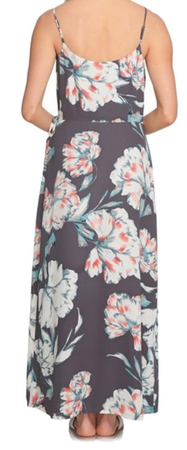 Multi Maxi Dress by 1.STATE Lush Floral Print Side Tie Closure Surplice Neck Flattering Fit Lined Image 2