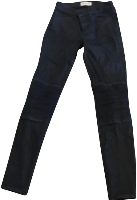 Item - Distressed Black Coated 80141 Skinny Jeans Size 0 (XS, 25)