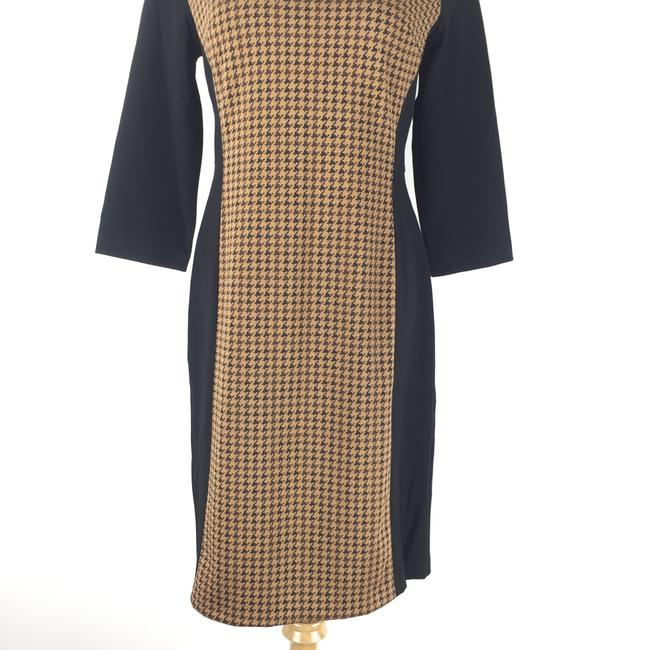 Talbots short dress Brown Preppy Houndstooth Careerdress on Tradesy Image 2