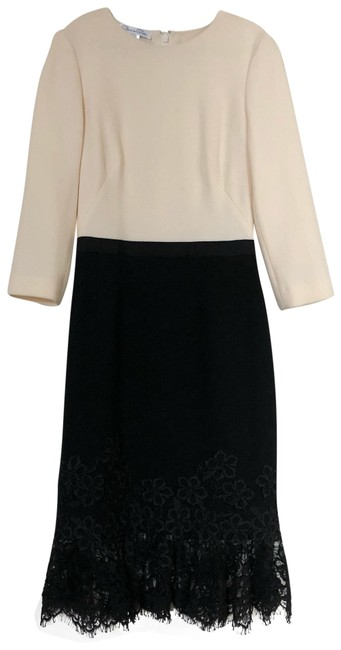 Preload https://img-static.tradesy.com/item/24980400/oscar-de-la-renta-black-and-white-34-sleeve-stretch-wool-lace-mid-length-workoffice-dress-size-0-xs-0-4-650-650.jpg
