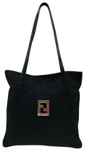 Fendi Canvas Zucca Monogram Shoulder Bag