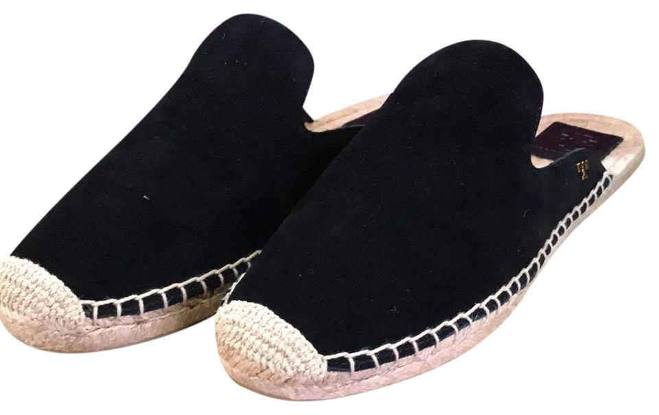 f27092e6dbf Tory Burch Black Max Espadrille Slide-natural Suede Flats Size US 9 ...
