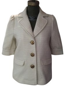 Juicy Couture white ivory with gold thead Jacket