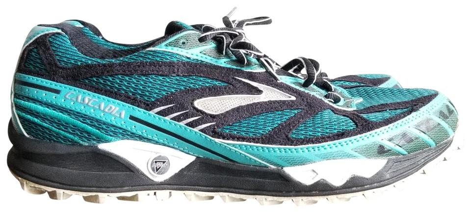 ba6ae8b4ba835 Brooks Teal Black Cascadia Pivot 4 Trail Running Sneakers. Size  US 10 ...