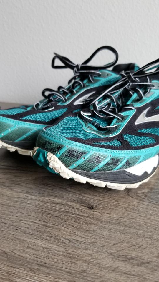 23e3d91e42a55 Brooks Trailrunning Running Jogging teal black Athletic Image 10.  1234567891011